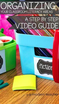 Don't know where to start in organizing your classroom? Then this is for you! A step by step video guide going through the Reading and Writing Areas. Includes tons of printables, $