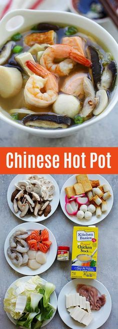 Chinese Hot Pot - hearty soup with a variety of fresh ingredients in a simmering pot of soup stock. Hot Pot is so good especially during winter months | rasamalaysia.com