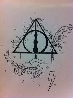 unique harry potter tattoos | Deathly Hallows Symbol. Harry Potter Tattoo