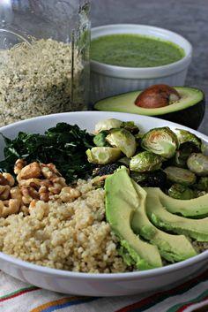 green goddess balance bowl - Begin Within Nutrition Vegetarian Recipes, Cooking Recipes, Healthy Recipes, Free Recipes, Buddha Bowl Vegan, Clean Eating Salate, Winter Salad Recipes, Healthy Snacks, Healthy Eating