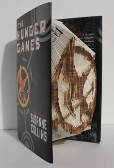 Mockingjay Pin Folded Book Art  Book Origami  by JoNomi on Etsy, $200.00