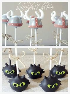 How to train your dragon themed cakepops