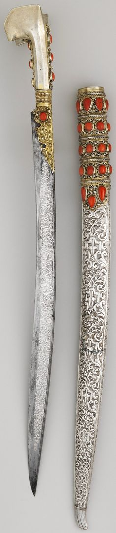 same as the other but with the scabbard. Swords And Daggers, Knives And Swords, Armas Ninja, Dagger Knife, Medieval Weapons, Arm Armor, Fantasy Weapons, Ottoman Empire, Islamic Art