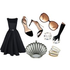 Outfit Ideas: Lindy Bop Vintage 50's Audrey Hepburn Style Evening Dress - chic from hair 2 toe