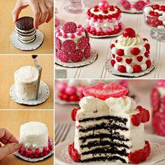 No Bake Mini Cookie Cakes