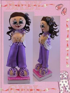 CANDY Pregnant Fofucha Doll  centerpiece by SweetBellaLuna on Etsy, $15.00