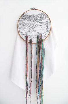 The romantic embroidery of Ana Teresa Barboza Gubo Artistic Installation, A Level Art, Textile Artists, Embroidery Techniques, Embroidery Art, Landscape Art, Couture, Fiber Art, Design Art