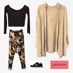 Shop the look now  gt  Ζακέτα   bit.ly 2eDAGuQ Μπλούζα   bit 8499abdf017
