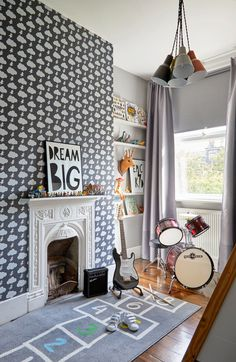 boy's bedroom by Born & Bred Interior Design Cool Boys Room, Cool Kids Bedrooms, Boys Bedroom Decor, Living Room Decor, Bedroom Curtains, Kids Room Design, Home Design, Home Interior Design, Luxury Interior
