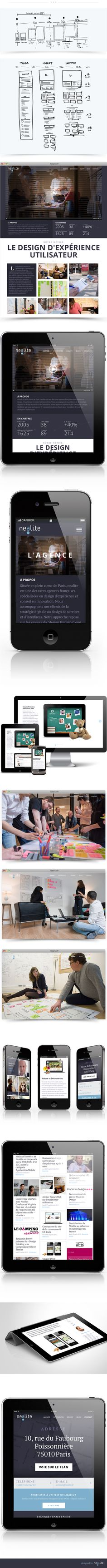 Nealite - responsive design by Nealite , via Behance
