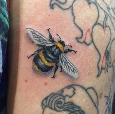 #bee #tattoo by Bruce Davis, Elite Ink Tattoos of Myrtle Beach, SC