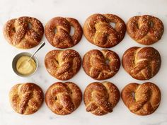 For a taste of the fair at home, try Alton Brown's Homemade Soft Pretzels recipe from Good Eats on Food Network. Homemade Soft Pretzels, Pretzels Recipe, Homemade Food, Food Network Recipes, Cooking Recipes, Bread Recipes, Cooking Bacon, Yummy Recipes, Chicken Recipes