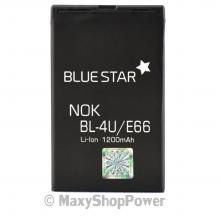 BATTERIA ORIGINALE BLUE STAR 3,7V 1200mAh LI-ION IONI DI LITIO PER NOKIA E66 NERA BLACK NEW NUOVA IDEA REGALO - S WWW.MAXYSHOPPOWER.COM