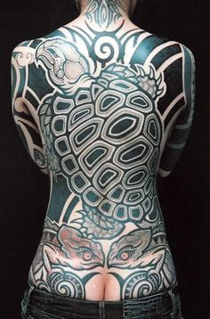 Huge neo-tribal with rad designs by Genko.