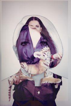 Marina Abramovic by Dina Lynnyk, via Behance