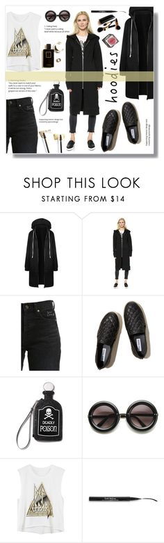 """In My Hood: Cozy Hoodies"" by nadia-gadelmawla ❤ liked on Polyvore featuring Oak, Yves Saint Laurent, Hollister Co., Current Mood, ZeroUV, Trish McEvoy, Iman and Garance Doré"