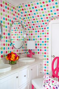 Bring on the color! From magenta to sunny yellow, Kelly green to royal blue, see these stunning designer bathrooms that don't shy away from bold hues.