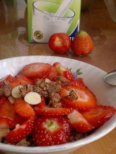 Erdbeer Cornflakes Schoko Milch