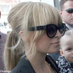 Nicole Richie fringe/hair up love the full fringe and wisps with slight volume beehive at back pulled into ponytail be perfect for Nadia hair