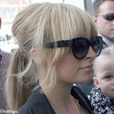 Nicole Richie fringe/hair up