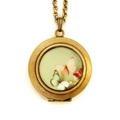 Lovely Butterfly Locket Necklace, $34, now featured on Fab.