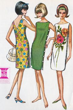 sundress patterns misses 1960's sheath | 1960's Misses Summer Shift Dress Vintage Sewing Pattern, Quickie ...