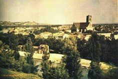 Oldest known color photograph, by Louis Ducos du Hauron in 1872. The photo is of a view of Angouleme, France.