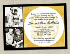 funny wording for 50th wedding anniversary invitations - Google Search