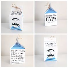 frech way to celebrate father's day Diy For Kids, Crafts For Kids, Cadeau Parents, Mojito, Origami Box, Fathers Day Crafts, Mother And Father, Card Tags, Little Gifts