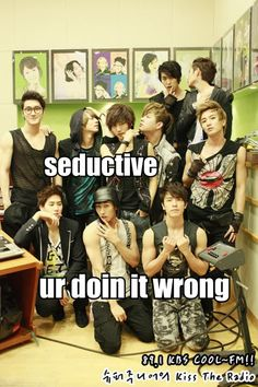 LOL I love how everyone else is trying so hard and Siwon is just standing there looking hot anyhow XD