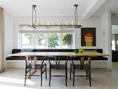 ALTAR - Moderner lüster by Kevin Reilly Collection Kitchen Banquette, Kitchen Benches, Dining Table With Bench, Dining Nook, Built In Dining Room Seating, Kitchen Interior, Room Interior, Interior Design, Mesa Sofa