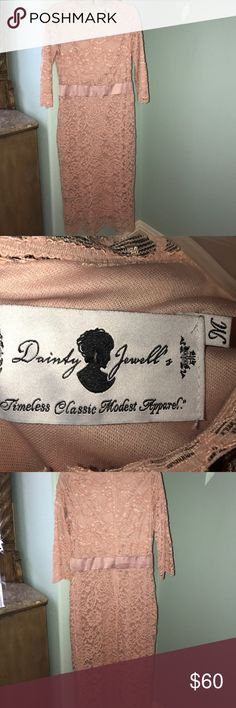 Lace dress Blush lace dress from dainty jewells. Only worn once in great condition! Dresses Midi