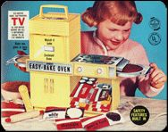 1960 Easy Bake Oven.  OMG - I can still see myself baking and remember the taste of those cakes!