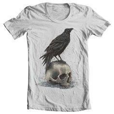 Crow Skull T shirt design