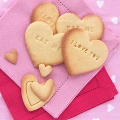 Letterpress Cookies for Valentines Day