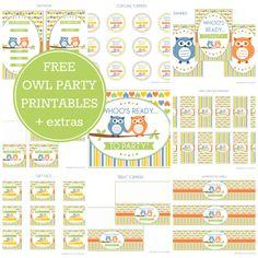 FREE Owl Party Printables (+ Extras)