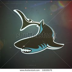 Vector illustration of fun cartoon stylized angry shark turning in the water Poster Water Poster, Shark Tattoos, Buy Posters, Cool Cartoons, Illustration, Moose Art, Neon Signs, Ancestry Records, Fun