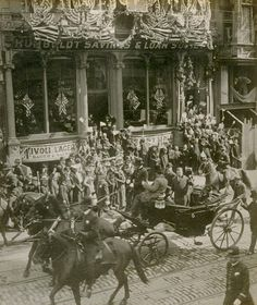 President Theodore Roosevelt's visit to San Francisco, Calif., Passing up Geary St. bet. Kearny St. and Grant Ave. (1903) Jesse Brown Cook Scrapbooks Documenting San Francisco History and Law Enforcement, via @uc_berkeley, @bancroftlibrary, Online Archive of California, California Digital Library