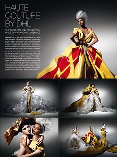 Haute couture by DHL  the frst fashion collection made of packaging materials