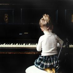 little pianist:) I want that my girl will be a pianist :) like she....