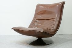 leather lounge chair, F 984, Geoffrey Harcourt for Artifort