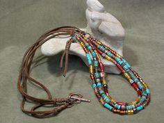 Beaded Southwestern Necklace    by StoneWearDesigns