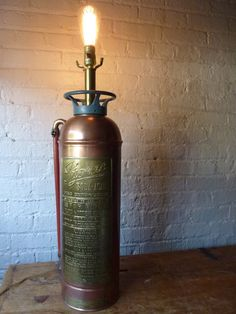 Pyrene Fire Extinguisher Lamp by ShopTimePiece on Etsy, $420.00