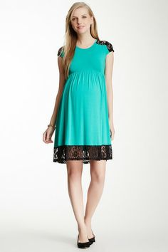 Mabel Lace Trim Skater Dress by Momo Maternity on @HauteLook