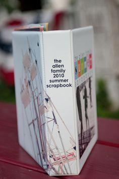 A simple family scrapbook album in a binder.