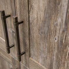 Porte d'armoire de cuisine en mélamine Egger avec poignée rustique