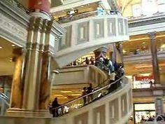 Spiral Escalator at Caesar's Palace Forum Shops in Las Vegas