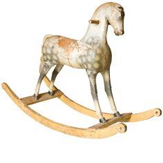 19th Century Swedish Rocking Horse