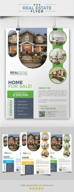 Real Estate Flyer 06 Features 03 PSD file included sizes + Bleeds 03 Colors 300 DPI resolution CMYK color mode Fully layered and editable Instruction file included Model photo is not included Free fonts used Print Ready Brochure Design, Flyer Design, Layout Design, Booklet Design, Design Templates, Real Estate Flyers, Real Estate Marketing, Real Estate Ads, Crea Design