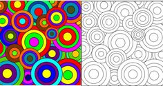 Dot Painting, Silk Painting, Matisse, Drawing For Kids, Art For Kids, Projects For Kids, Art Projects, Geometric Coloring Pages, Robert Delaunay